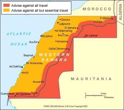 ⭕ URGENTE | El Reino Unido niega la apertura de un consulado en el Sáhara Occidental.