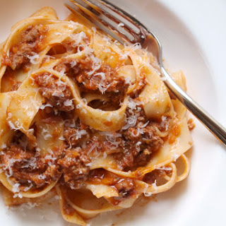 Pappardelle with Meat Sauce