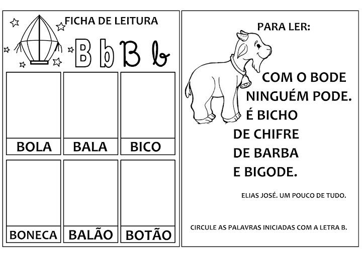 Excepcional Alfabetizando - Iara Medeiros: LETRA B NO96