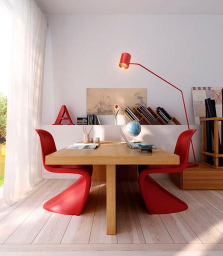 decoraçao-sala-de-jantar-vermelho-abrir-janela