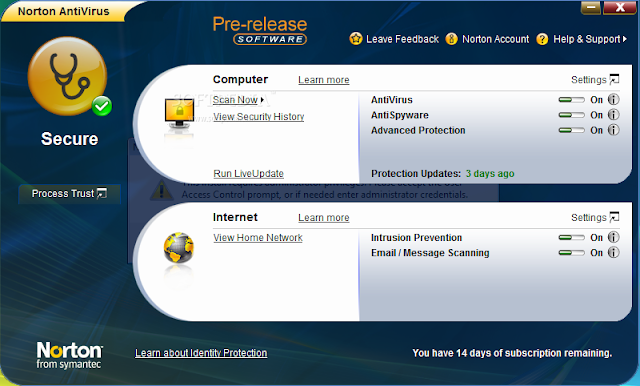Norton antivirus definition update