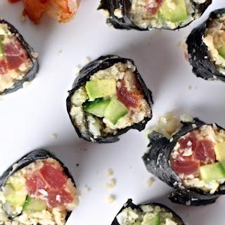 Cauliflower Rice Sushi with Tuna
