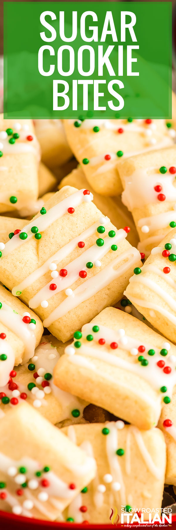 Title text (shown in a pile): Sugar Cookie Bites