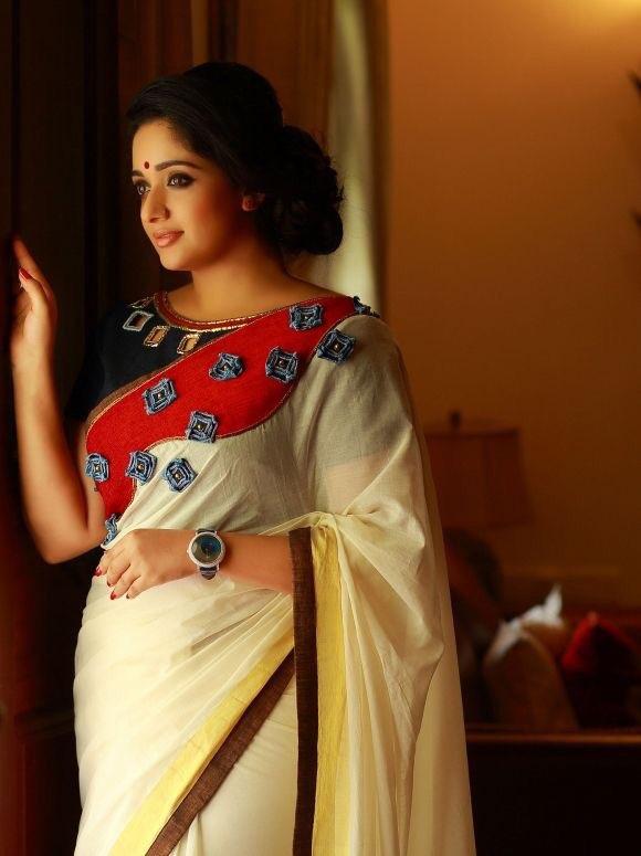 Kavya Madhavan Designer Saree Photos | latest collection | Celebrity fashion Navel Queens