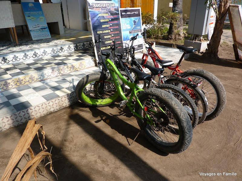 Fat bikes on Gili air