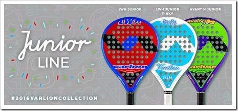VARLION PADEL presenta LWH Junior, LWH Junior Pinky y Avant H Junior.