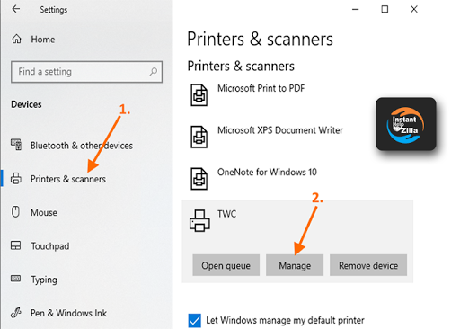 Rename the printer in windows 10