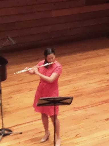 María Gabriela Núñez, flauta, en su recital