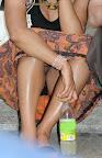 Italian Black Lacy Panty Crotch Shot