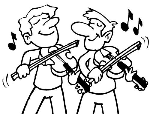 Pinto Dibujos: Violinistas para colorear