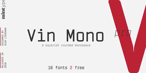 Download Vin Mono Pro Fonts by Mint Type