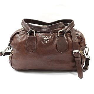 Prada Brown Leather Crossbody Satchel