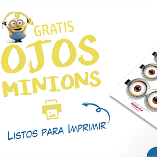 Ojos Minions – Gratis para Imprimir