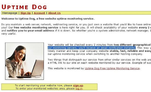 Uptime Dog Website Monitoring