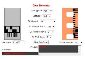 ORWO QRS 100 a DXn Simulator oldalán