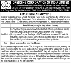 Dredge India Petty Officer Advertisement 2018 www.indgovtjobs.in