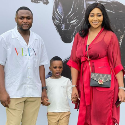 Music executive, Ubi Franklin and his ex-wife, Lilian Esoro, team up at their son, Jayden's 5th birthday party(photos)
