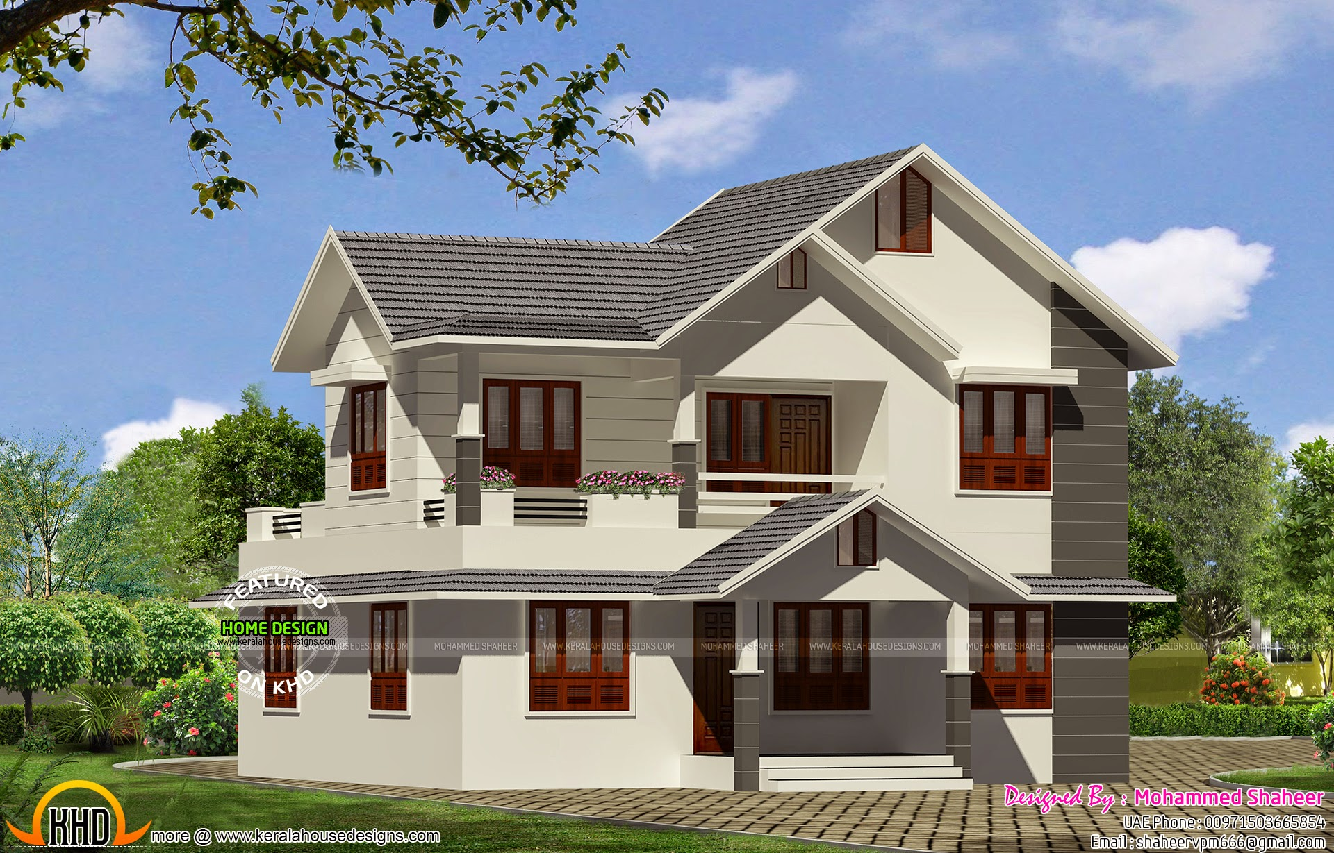 modern house taper roof kerala home design and floor plans