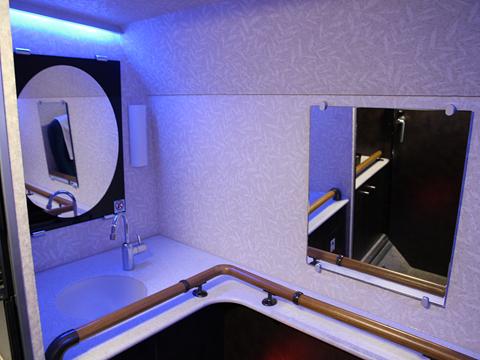 中国バス「広福ライナー」 G1106 後部パウダールーム その1