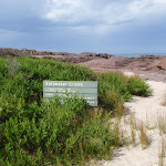 Signpost northern end of Saltwater Beach (105868)