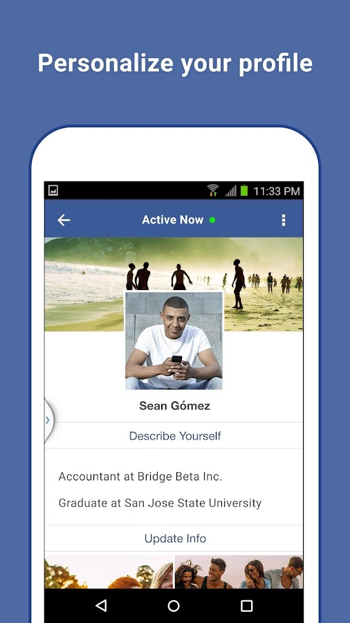 Facebook Lite– captura de ecrã