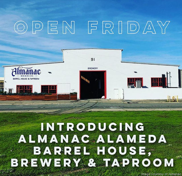 Almanac Alameda Barrel House, Brewery & Taproom Ready To Open