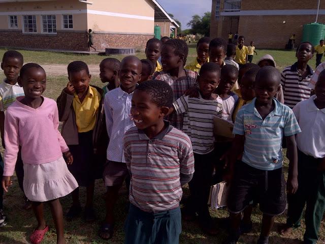 in Botswana, Kids LOVE aving their picture taken