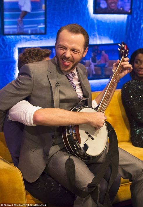 The Jonathan Ross show Coldplay Simon Pegg35
