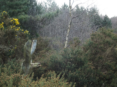 Sandlings sculpture lurking in the forest
