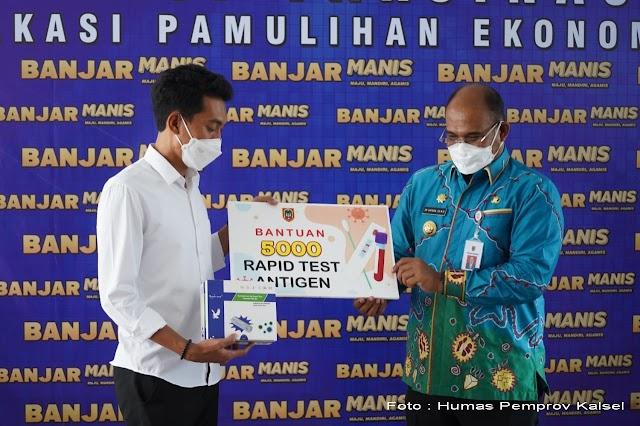 Pj Gubernur Kalsel Serahkan 5.000 pices Rapid Test Antigen