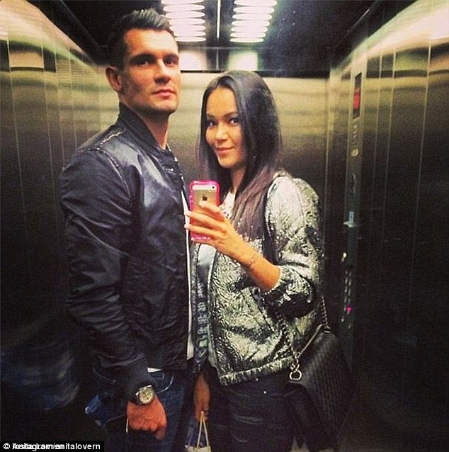 Dejan Lovren and his wife anita
