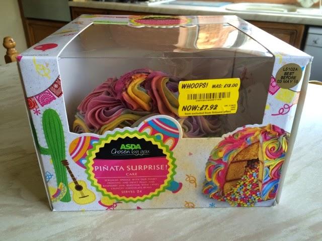 Asda Groceries Cake Decorations : Reaching for Refreshment : Review- Asda Pinata Surprise! Cake
