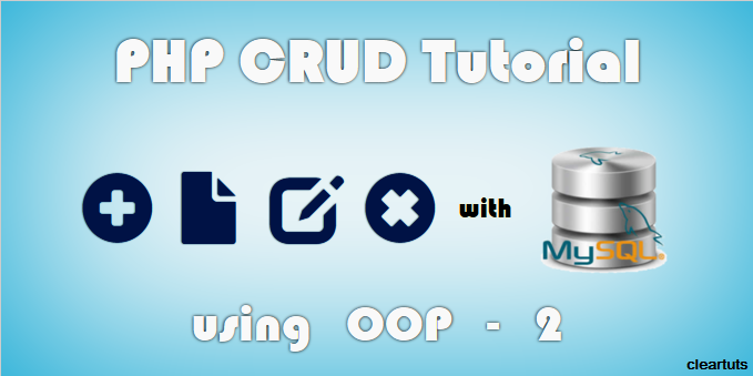 PHP OOP CRUD Tutorial with MySQL part-2