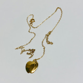 14K Gold DAMAGED Apple Pendant Necklace