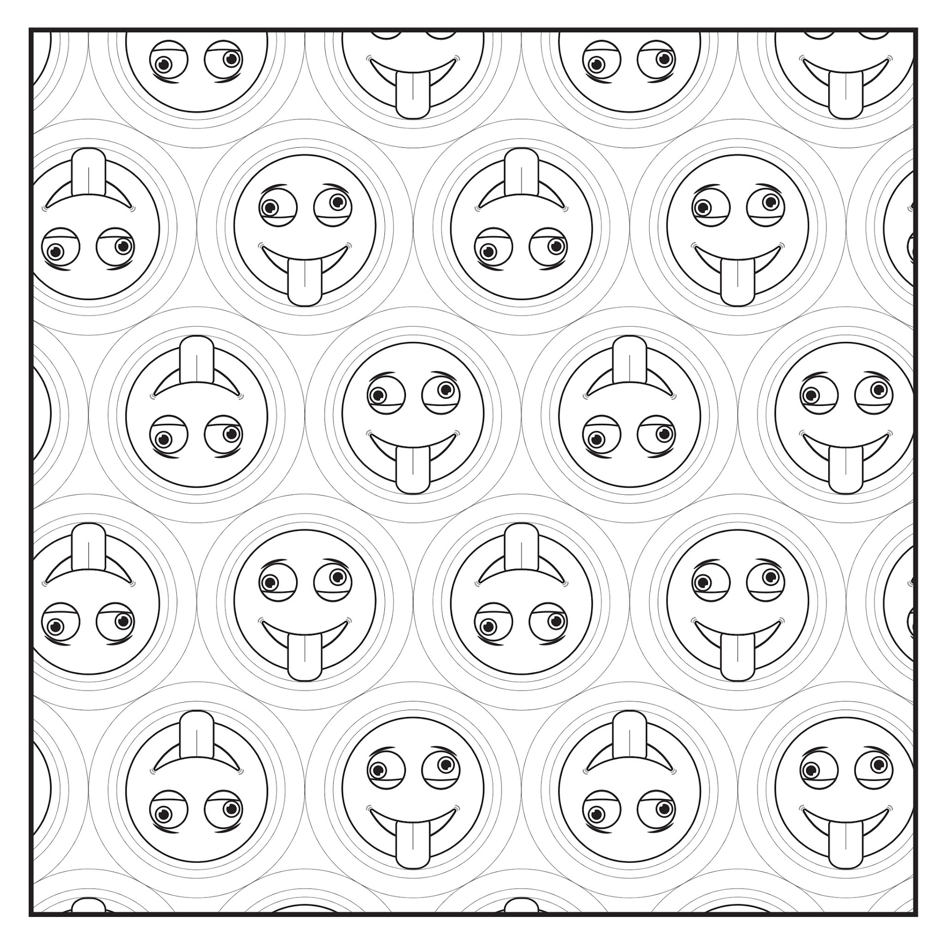 Best All Emojis Coloring Pages Drawing