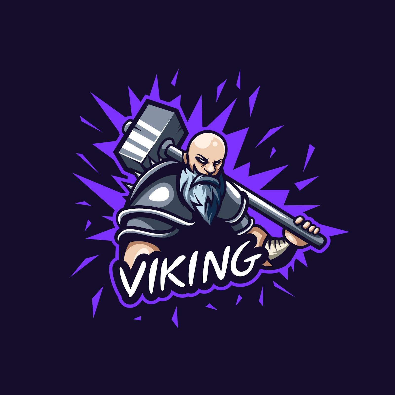 Awesome Viking Logo Illustration Gaming Squad Free Download Vector CDR, AI, EPS and PNG Formats