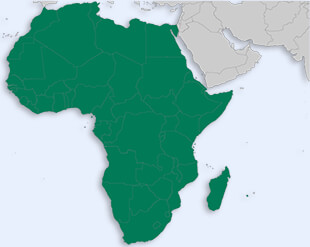 African Union location map