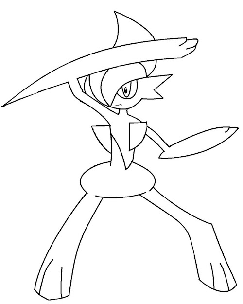 Viewing Gallery For Pokemon Gallade In Incredible Pokemon Coloring Pages  Mega Evolution