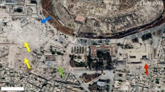 Syrian World Heritage sites showing significant damage