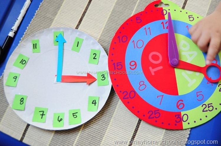 Mavi's version of the clock activity