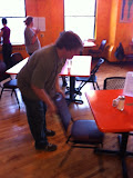 Inspiration Cafe: Bob clearing tables