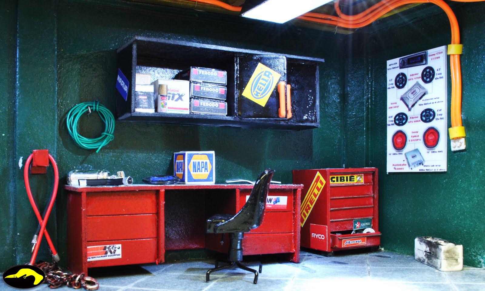 Bowerbird Garage Diorama Bower Garage Diorama Jamilla