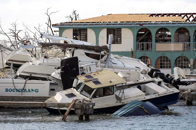 Damage following Hurricane Irma is seen in Tortola, British Virgin Islands. Photo: Joel Rouse /Royal Navy / MoD / Crown / REUTERS