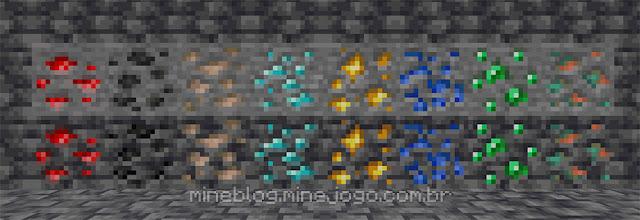 Versões de ardósia de todos os minérios