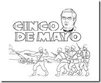 dibujos para colorear del 5 de mayo batalla de puebla