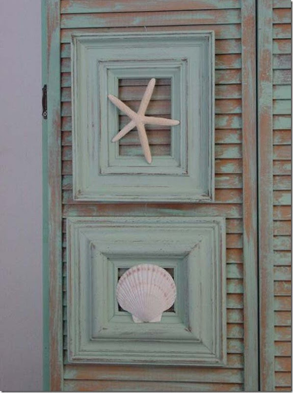 riutilizzare una vecchia Cornice come decorazione casa al mare