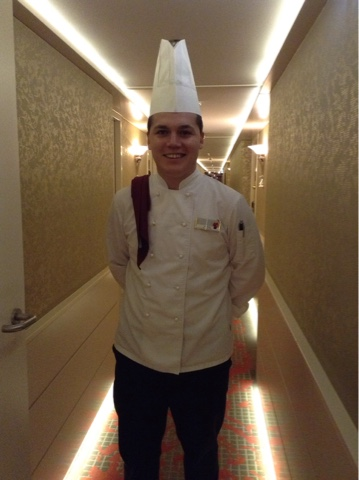 The chef onboard the AmaPrima on Ama Waterways