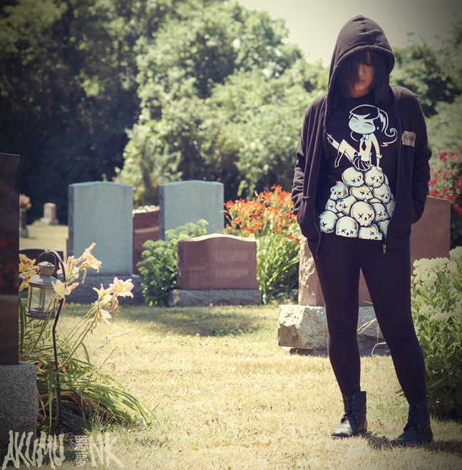 akumu, cemetery, horror fashion, japanese fashion, goth shirts, goth fashion, emo tshirts, vampire freaks tshirt, suicide girls tshirt