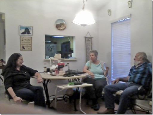 (Left to Right)  Linda, Marcia, Skevos