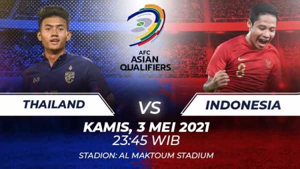 Live Streaming Thailand vs Indonesia 4.6.2021